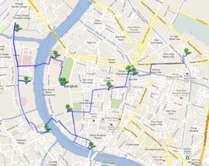 Пешеходный маршрут по Бангкоку