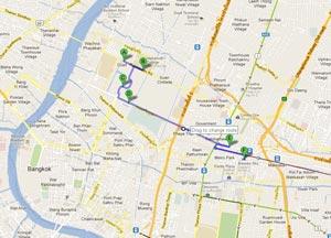 Второй пешеходный маршрут по Бангкоку: Тиковый дворец - башня Bayoke Sky