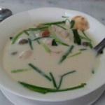 Завтрак в Бангкоке, кокосовый суп и рис с крабом