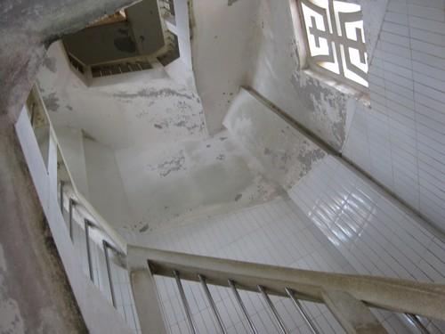 Вьетнам. Вунг Тау. Внутри статуи Иисуса Христа. Лестница.