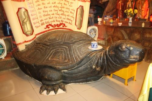 Вьетнам. Вунг Тау. Гора Хо Май. В храме большая черепаха.