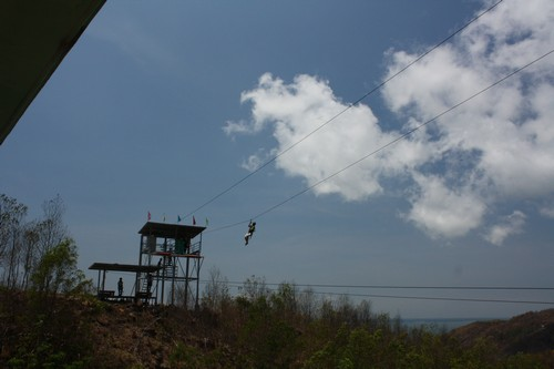 Вьетнам. Вунг Тау. Гора Хо Май. На веревке.