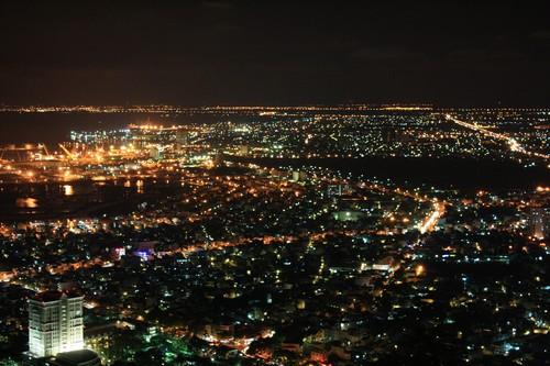 Вьетнам. Вунг Тау. Гора Хо Май. Вид на вечерний Вунг Тау.