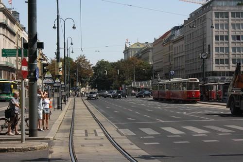 Трамвай. Вена. Австрия.