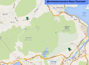 Карта достопримечательностей на Новых Территориях