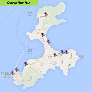 Карта достопримечательностей острова Ченг Чау