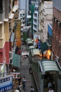 Уличный эскалатор в Гонконге