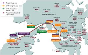 Схема поездов Airport Express, HongKong