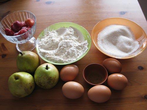 шарлотка с грушами ингредиенты