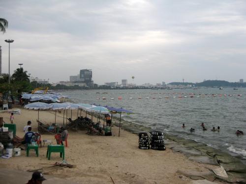 Самое начало центрального пляжа в Паттайя