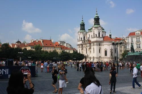 Одна из площадей в Праге. Чехия.
