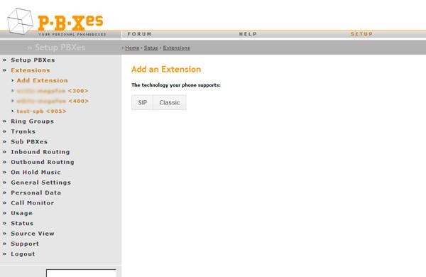 Как настроить Extensions в pbxes