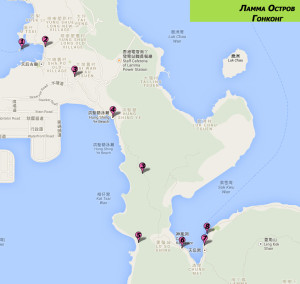 Карта достопримечательностей острова Ламма, Гонконг