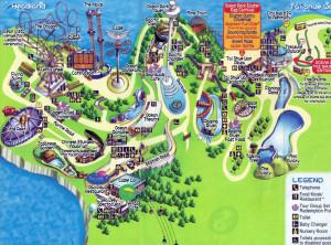 Карта океанического парка, остров Гонконг