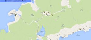 Карта достопримечательностей острова Лантау