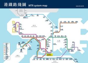 Карта метро в Гонконге